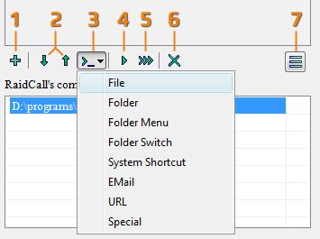 Панель управления команд